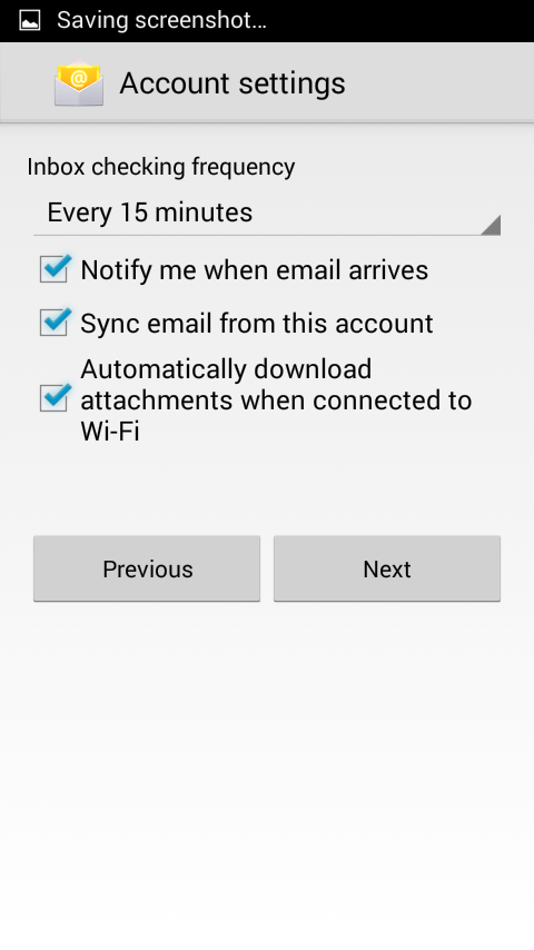 Sync SMTP Android