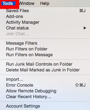 Thunderbird Mail instellen