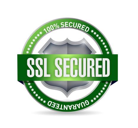 ssl secured seal or shield illustration